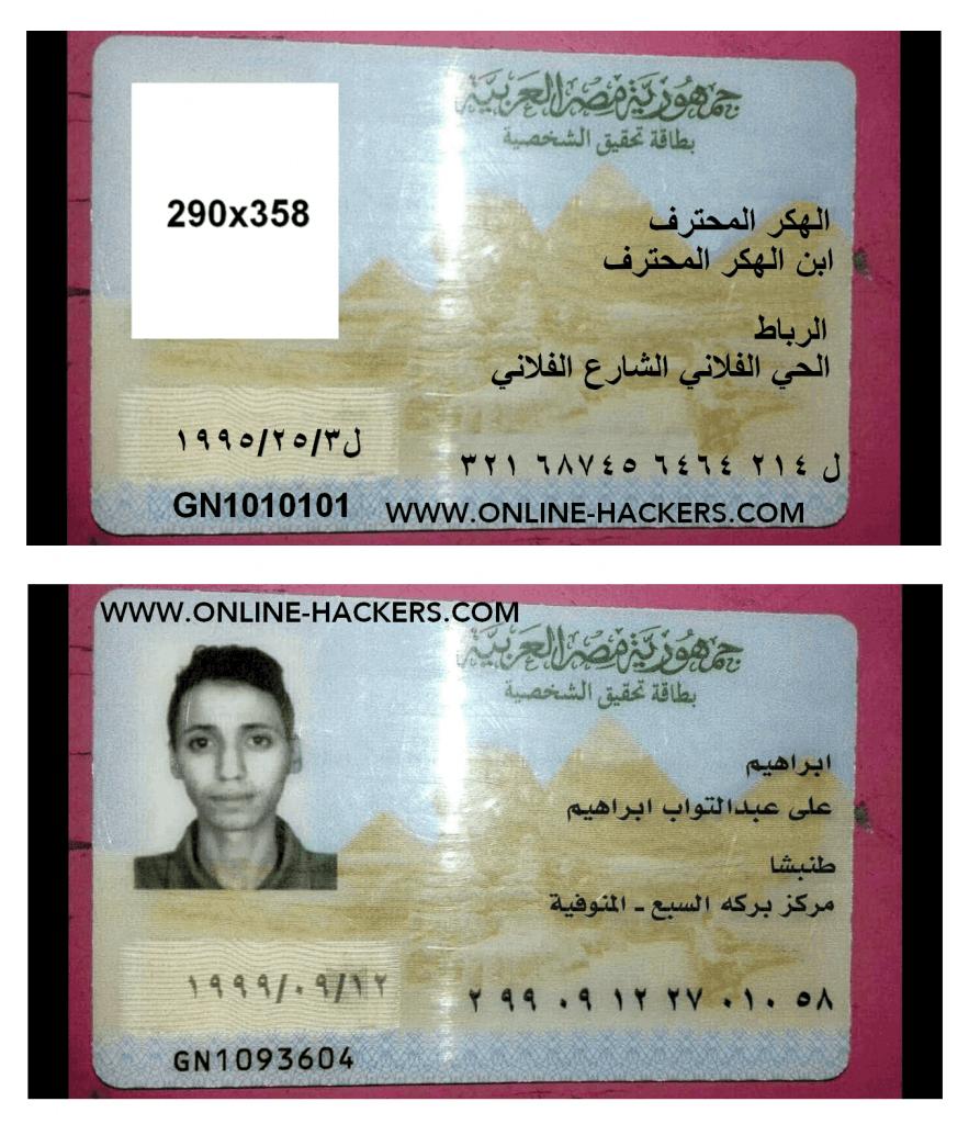 هوية مزورة مصرية
