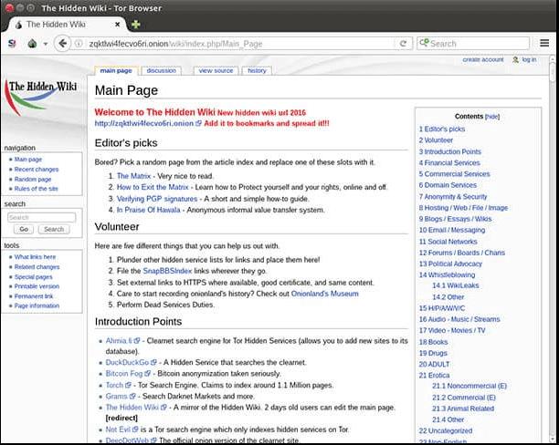 موقع ويكيبيديا المخفي The Hidden Wiki