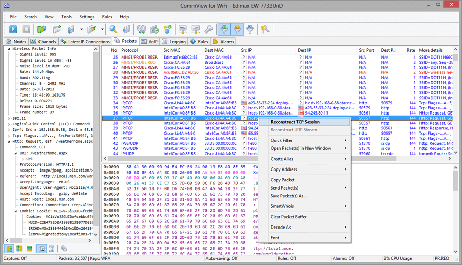 تنزيل برنامج CommView for WiFi اختراق الواي فاي