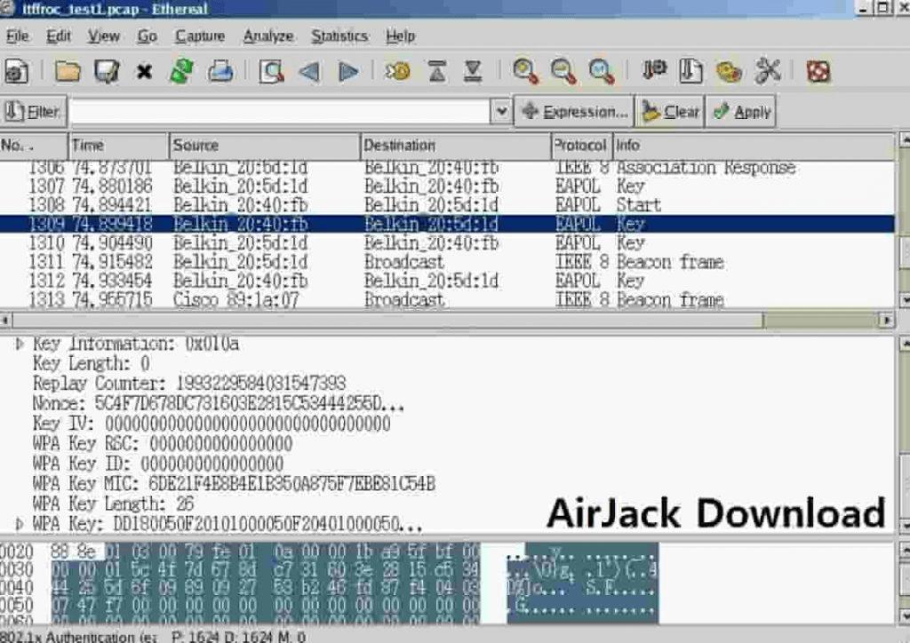 برنامج Airjack لاختراق الواي فاي