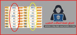 اختراق تعبئة اتصالات المغرب مجانا